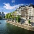 Quai d'Orleans. - Stock Photo