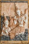 Thai Plaster cast relief — Stock Photo