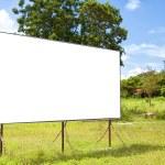 Rural blank bilboard — Stock Photo