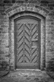 Church Door Monochromatic 02 — Stock Photo