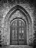Church Door Monochromatic — Stock Photo
