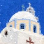 Santorini Painting 01 — Stock Photo
