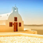 Santorini Oia Church 12 — Stock Photo