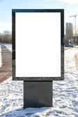 Prázdné silnici billboard 02 — Stock fotografie