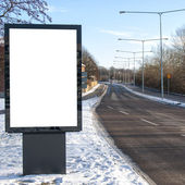 Blank Roadside Billboard 04 — Stock Photo