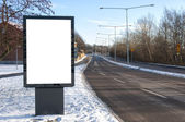 Blank Roadside Billboard 01 — Stock Photo