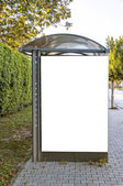 Bus Shelter in Side — Stock Photo