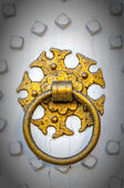 Golden Door Knocker vignette — Stock Photo