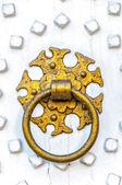 Golden Door Knocker — Foto de Stock