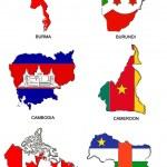 World flag map stylized sketches 06 — Stock Photo #2252176