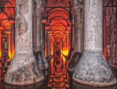 Basilica cistern HDR — Stock Photo