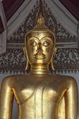 Golden Buddha Temple Statue — 图库照片