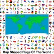 Stock Photo: Map Shaped Flags Of The World