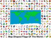 Map Shaped Flags Of The World — Stock Photo