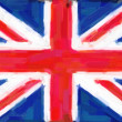 Union Jack Flag Painting — Stock Photo
