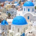 Santorini Oil Painting — Stock Photo