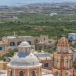 Peach Church Santorini — Stock Photo #24585469
