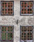 Four Front Windows — Stock Photo