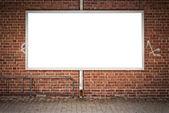 Blank Billboard grunge city — Stock Photo