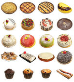 Cake and tart selection — Stock Photo