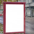 Blank Billboard Riga — Stock Photo