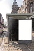 Bus Stop Edinburgh — Stock Photo