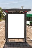 Bus Stop Sweden — Stock Photo