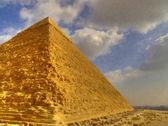 Great Pyramid Painting — Stock Photo