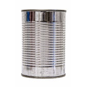 Isolated Tin Can front — Stock Photo