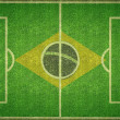 Brazil Football Soccer Pitch — Stockfoto #38780537