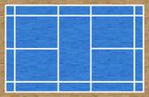 Badmintonový kurt — Stock fotografie