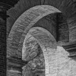 Abstract Arches Colosseum Mono — Stock Photo