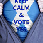 Scottish Businessman votes yes — Stock Photo