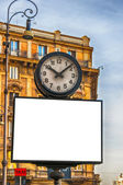 Rome Clock Billboard — Stock Photo