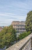 Rome Colosseum from Domus Aurea park — Stock Photo