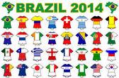 World cup flag strip designs 2014 — Stock Photo