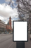 Blank Billboard in Helsingborg — Stock Photo