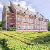 Palsjo Slott in Helsingborg With Hedge Maze — Stock Photo