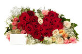 Roses and heart — Stock Photo