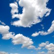 White clouds blue sky - Stockfoto