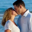 Young couple are kissing. — Stock Photo