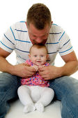 Happy father and baby — Foto Stock