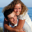 Young couple having fun — Stock Photo