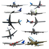Plane collection isolated on a white background. High resolution — Stock Photo