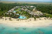 Hotel resort near beach — Stock Photo