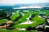 Elevevated view of golf course — Stock Photo