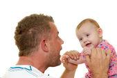 Padre y bebé — Foto de Stock