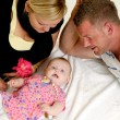 Mother father and baby — Stock Photo