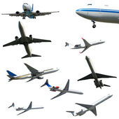 Plane collection isolated on a white background. High resolution — Foto Stock