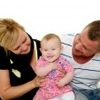 Happy smiling and laughing family — Stock Photo #43669293